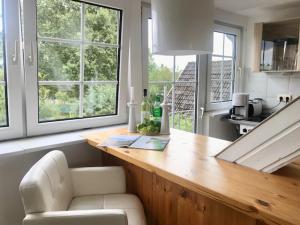 Küche/Küchenzeile in der Unterkunft Ferienwohnung Elbstrand Kollmar