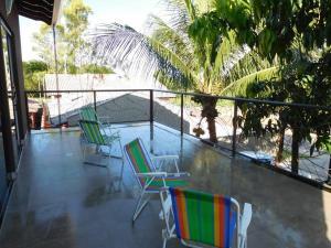 A balcony or terrace at Casa Temporada Castro Alves