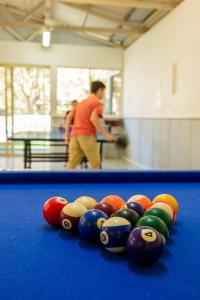 A pool table at The Retreat Port Stephens