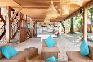A seating area at Kuda Laut Boutique Dive Resort