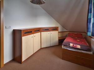 Kuchyň nebo kuchyňský kout v ubytování Apartment Bílé Labe