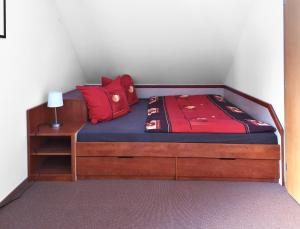 Postel nebo postele na pokoji v ubytování Apartment Bílé Labe