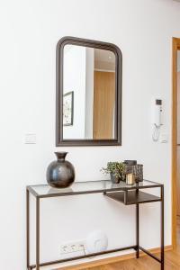 A bathroom at Tyr Apartments