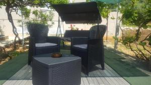 A patio or other outdoor area at Apartments Laura