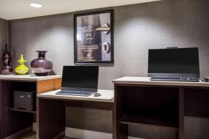 A television and/or entertainment center at La Quinta by Wyndham Virginia Beach