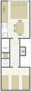 The floor plan of Smi:re Stay Oshiage