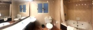 A bathroom at St. Patrick's Hotel