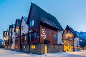 Basecamp Resorts Canmore during the winter