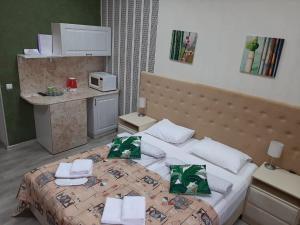 Hotel Kuban Vostokにあるベッド