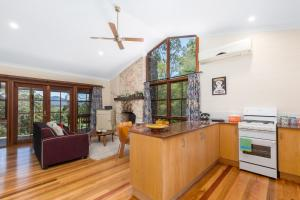 A kitchen or kitchenette at Friday Creek Retreat