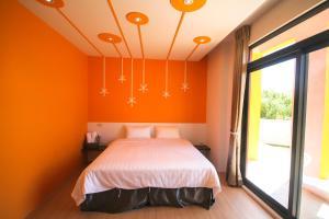 染色體民宿房間的床