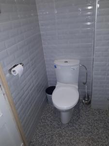 A bathroom at Pension Safari