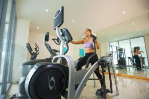 The fitness center and/or fitness facilities at Surin Beach Resort