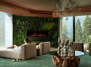 A seating area at Lefay Resort & SPA Dolomiti