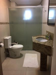 A bathroom at Pousada dos Pinheirais