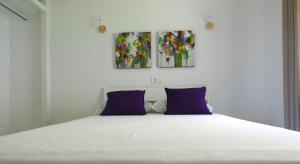 Cama o camas de una habitación en Villa Juanita