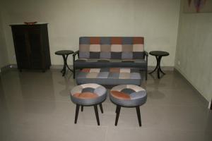A seating area at Balai Serama Guesthouse