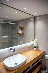 A bathroom at Apartments Hiša Pod Gradom
