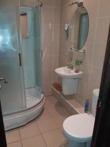 A bathroom at Gostinichny Kompleks Mashinostroeniya