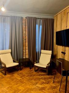 A seating area at Alliance Tverskaya zastava