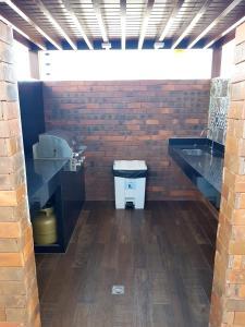 A bathroom at Apartamentos Cézanne