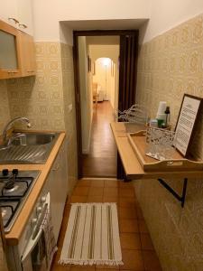 """Cuisine ou kitchenette dans l'établissement Appartamento Orso """"Al 23"""""""