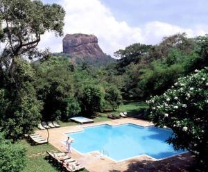 A view of the pool at Sigiriya Village or nearby