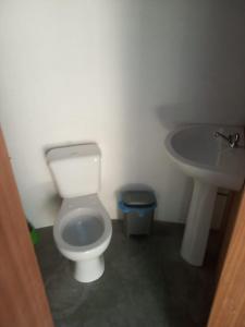 Salle de bains dans l'établissement Pensao Casa José Doce