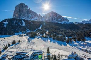 Monte Pana Dolomites Hotel during the winter