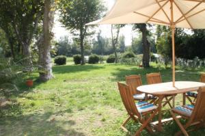 A garden outside Gite Moun Mazet