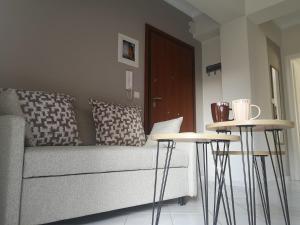 Χώρος καθιστικού στο Angelland Luxury Suites