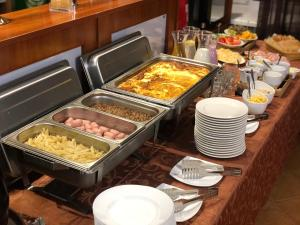 Breakfast options available to guests at Hotel Iren