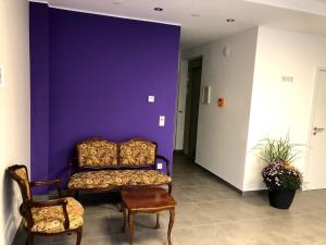 A seating area at Gästehaus Residenz Aurora
