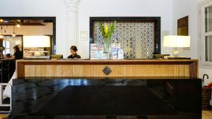 The lobby or reception area at ZEN Premium Kampong Glam