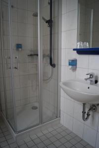 Ein Badezimmer in der Unterkunft Schlosshotel am Hainich