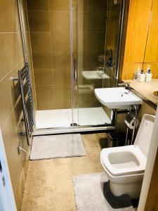 A bathroom at Luxury Lodge Excel London