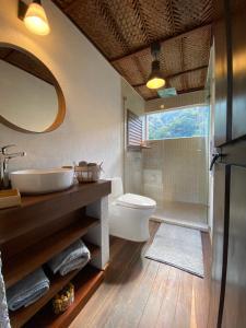 A bathroom at Reserva Natural Tierra Adentro