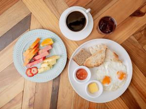 Breakfast options available to guests at Selina Cancun Downtown