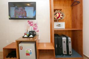 A television and/or entertainment center at CR Hotel