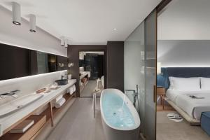 A bathroom at Mandarin Oriental Barcelona