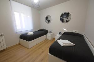 Cama o camas de una habitación en El Pórtico de las Bardenas