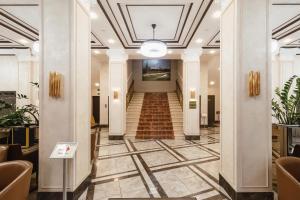 The lobby or reception area at Slavyanka
