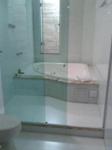A bathroom at Rillos Hotel