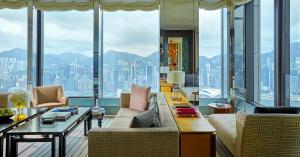 A seating area at Rosewood Hong Kong