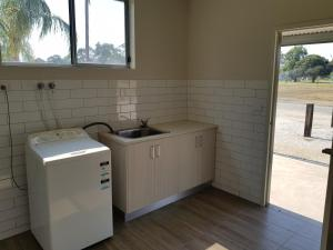 A kitchen or kitchenette at cluBarham Golf Resort