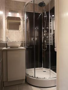 A bathroom at Chalet La Piste Bleu
