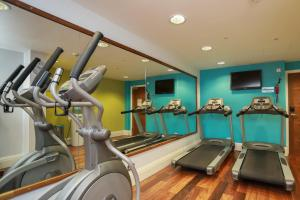 The fitness centre and/or fitness facilities at Hotel Indigo Edinburgh