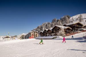 Riffelalp Resort 2222m during the winter
