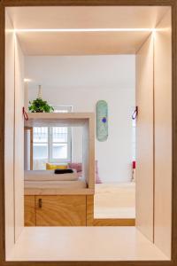 A bathroom at Montagu Hostel
