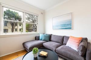 A seating area at Live like a local, steps from Bondi Beach